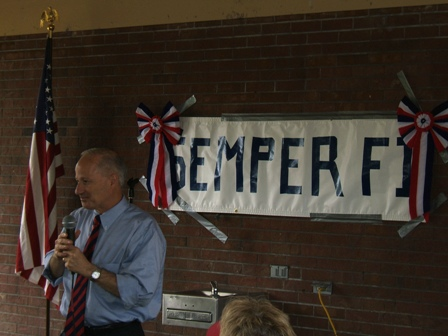 Major Mike Coffman addresses his supporters