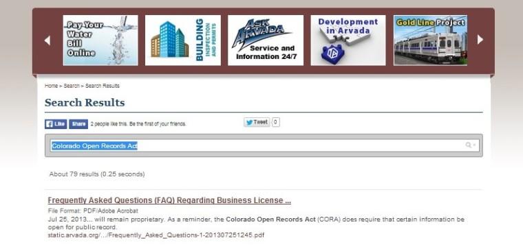 Despite Some Transparency, Arvada Website Comes Up a Little Short