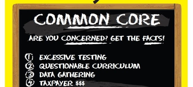Parents Handing Out Common Core Flier Meet Push-Back